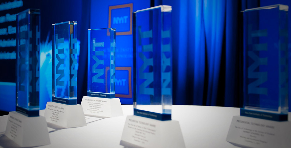 NYIT award trophies