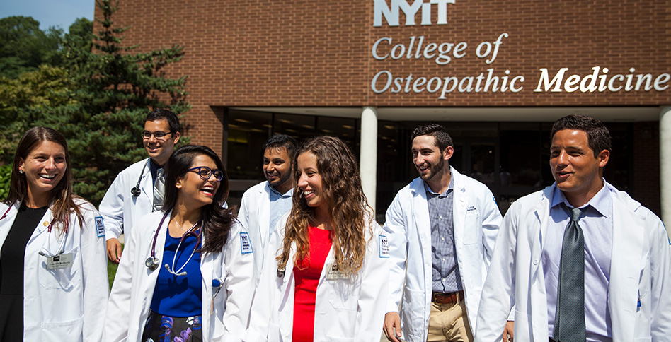 NYITCOM students gather outside