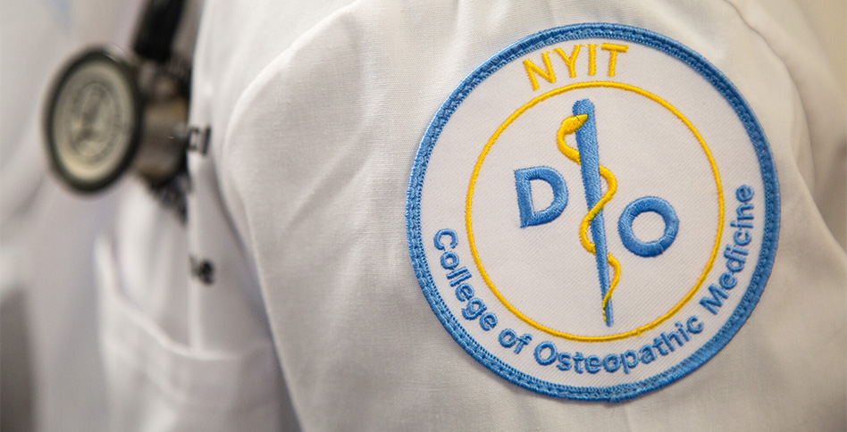 Embroidered NYITCOM lab coat patch